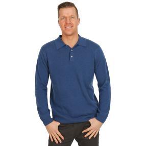 100% KASCHMIR Herrn-Pullover blau