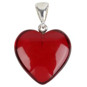 Anhänger 925 St. Silber Bernstein Herz