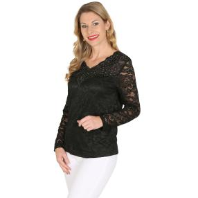 TRENDS by J. Leibfried Spitzen-Shirt schwarz