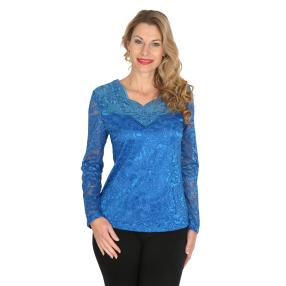 TRENDS by J. Leibfried Spitzen-Shirt blau