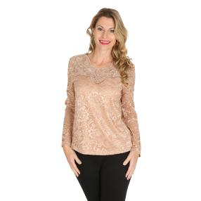 TRENDS by J. Leibfried Spitzen-Shirt taupe