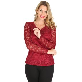 TRENDS by J. Leibfried Spitzen-Shirt amarone