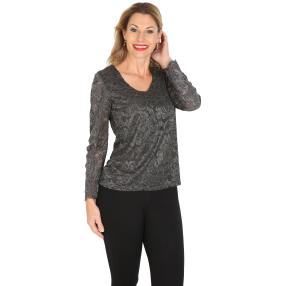 TRENDS by J. Leibfried Spitzen-Shirt grau