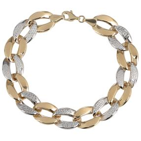 Armband 585 Gold bicolor, ca, 19cm
