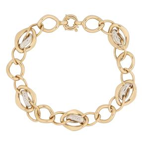 Armband 585 Gold, bicolor