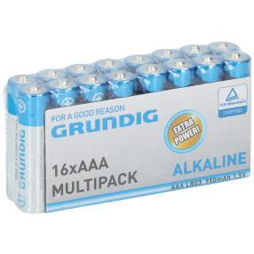 16er Set Grundig Premium Alkaline AAA