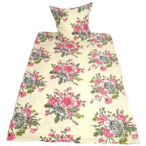 AllSeasons Bettwäsche Blumenstrauß hellgrün