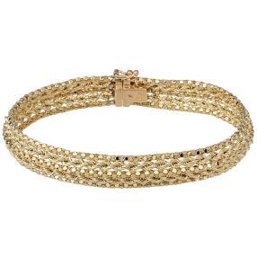 Armband 585 Gelbgold, ca 18,5cm