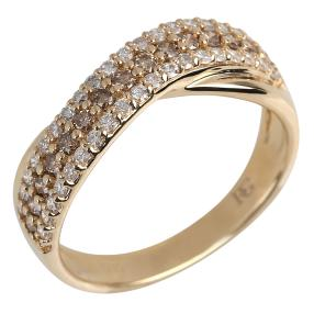 Ring 585 Gelbgold Chocolate Brillant