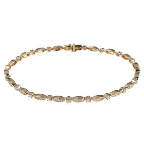 Armband 585 Gelbgold Brillant