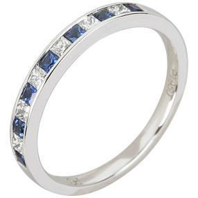 Ring 950 Platin Diamant+Safir