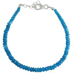 Armband Äthiopischer Opal blau