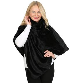 IL PAVONE Webpelzponcho Made in Italy