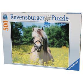 Ravensburger Puzzle 'Pferd im Rapsfeld'