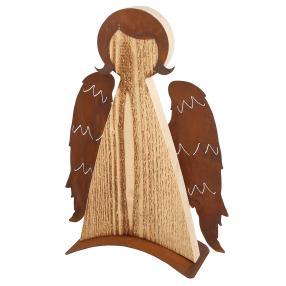 Engel aus Fichtenholz 44 cm