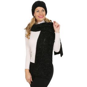 Winterset: Mütze und Schal Lurex