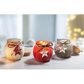 Duftkerzen Weihnachtszauber im Glas 3er-Set