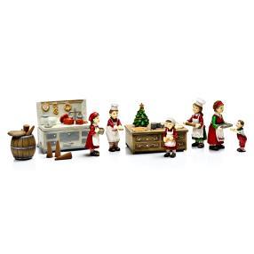 Weihnachtsbäckerei mit Spieluhr