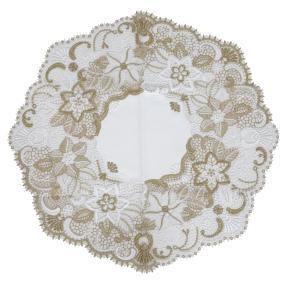 Plauener Spitze Tischläufer, Blumen gold
