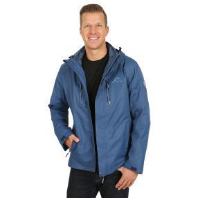 WESTFJORD Herren wasserfeste 3in1 Jacke blau