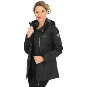 WESTFJORD Damen wasserfeste Regenjacke schwarz