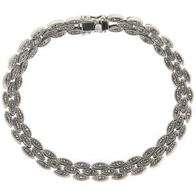 Armband 925 Sterling Silber Markasit