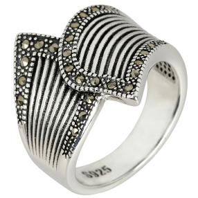 Ring 925 Sterling Silber Markasit