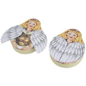 Flügeldose Engel mit Pralinen 2er Set