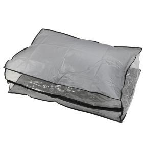 Unterbettkommode grau mit transparentem Fenster
