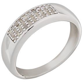 Ring 925 Sterling Silber rhodiniert Diamanten