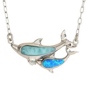 Collier 950 Larimar Delfin