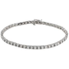 Armband 375 Weißgold Diamanten