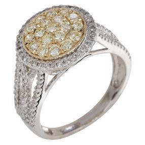 Ring 585 Weißgold/Gelbgold Diamanten