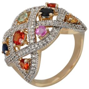 Ring 585 Gelbgold Multi Saphir