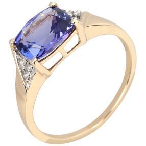 Ring 375 Gelbgold, AAATansanit