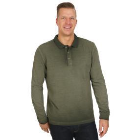 pierre cardin Herren Poloshirt langarm dunkel grün