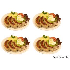 Rhönis Käse-Spinat-Bratwürste