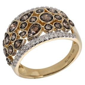 Ring 585 Gelbgold Chocolate Diamanten
