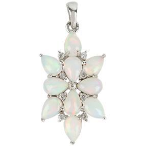 Anhänger 925  Sterling Silber Opal