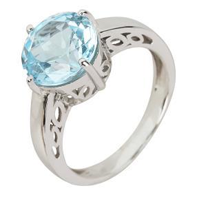 Ring 925 St. Silber Blautopas behandelt