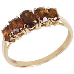 Queen Ring 585 Gelbgold AAA+ Sphen