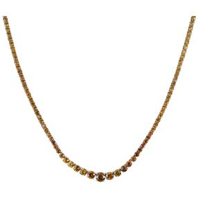 Queen Collier 585 Gelbgold AAA+ Sphen