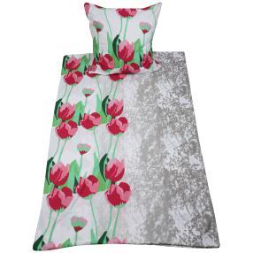 AllSeasons Bettwäsche 2-teilig, Tulpen pink