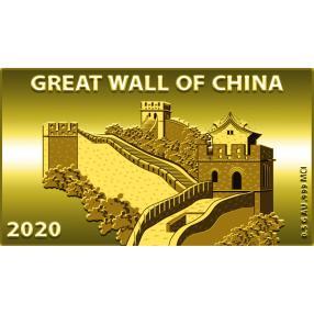 Goldbarrenmünze Chinesische Mauer