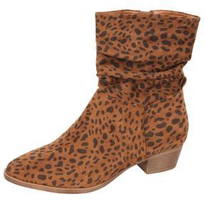 Damen-Stiefeletten Leopard