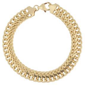Sadusa-Armband 585 Gelbgold, ca. 19cm