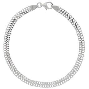 Infinityarmband 925 Sterling Silber, ca. 20 cm