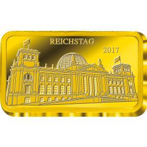 Goldbarren Deutscher Reichstag