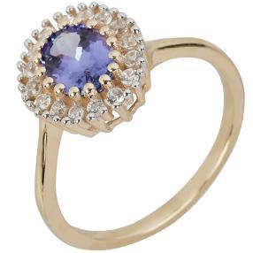 Ring 375 Gelbgold AAA+Tansanit
