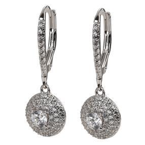 Ohrhänger 925 Sterling Silber, Zirkonia